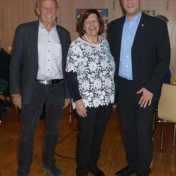 Gerhard Kiechle, Hannelore Lübben und Bürgermeister Markus Hollemann